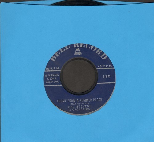 Stevens, Hal & Orchestra - Theme From A Summer Place/Down By The Station (vocal by The Stardreamers)  - EX8/ - 45 rpm Records