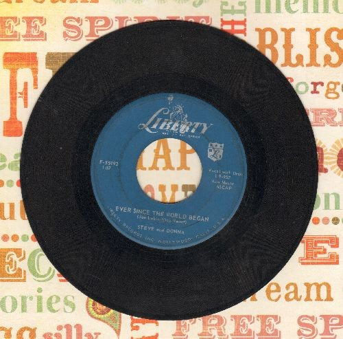 Steve & Donna - All The Better To Love You (Novelty Record based on Little Red Riding Hood fairy tale)/Ever Since The World Began  - VG7/ - 45 rpm Records