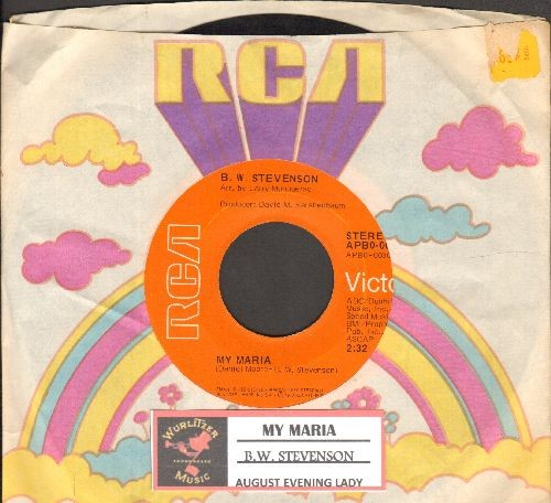 Stevenson, B. W. - My Maria/August Evening Lady (with juke box label and vintage RCA company sleeve) - EX8/ - 45 rpm Records