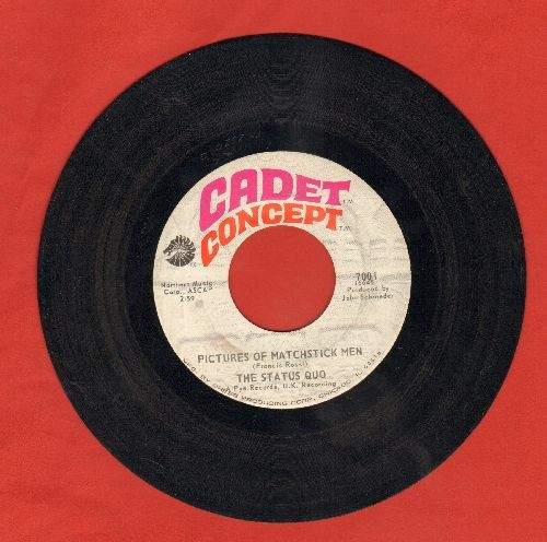 Status Quo - Pitures Of Matchstick Men/Gentleman Joe's Sidewalk Café - EX8/ - 45 rpm Records