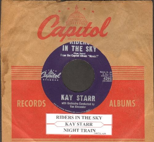 Starr, Kay - Riders In The Sky/Night Train (with juke box label and vintage Capitol company sleeve) - NM9/ - 45 rpm Records