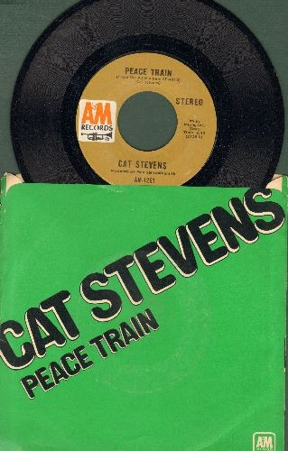 Stevens, Cat - Peace Train/Where Do The Children Play (with picture sleeve) - NM9/EX8 - 45 rpm Records