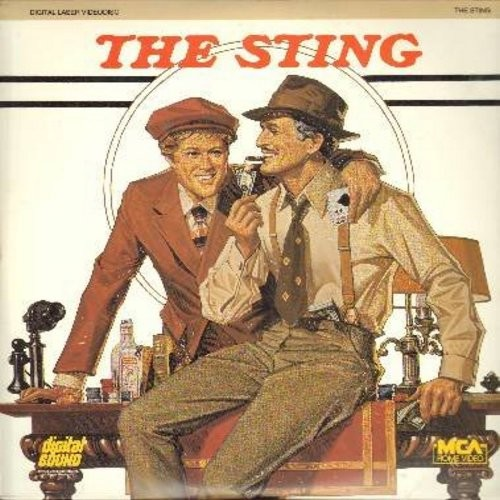 The Sting - The Sting - The 1974 Oscar Winning Gangster Film Classic starring Paul Newman and Robert Redford  (This is a set of 2 LASERDISCS, NOT ANY OTHER KIND OF MEDIA!) - NM9/NM9 - LaserDiscs