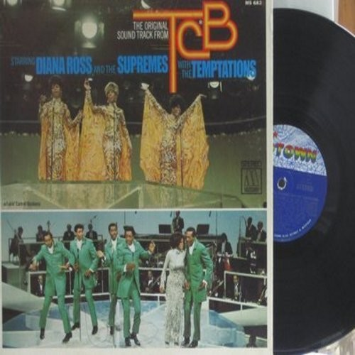 Supremes & Temptations - The Orignal Sound Track From TCB: Stop! In The Name Of Love, You Keep Me Hangin' On, R-E-S-P-E-C-T, Ain't Too Proud To Beg, The Impossible Dream, I Hear A Symphony (Vinyl STEREO LP record) - NM9/EX8 - LP Records
