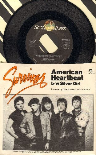 Survivor - American Heartbeat/Silver Girl (with picture sleeve) - NM9/EX8 - 45 rpm Records