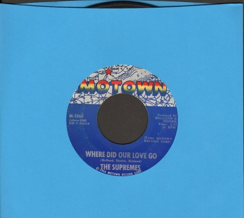 Supremes - Where Did Our Love Go/He Means The World To Me  - VG7/ - 45 rpm Records