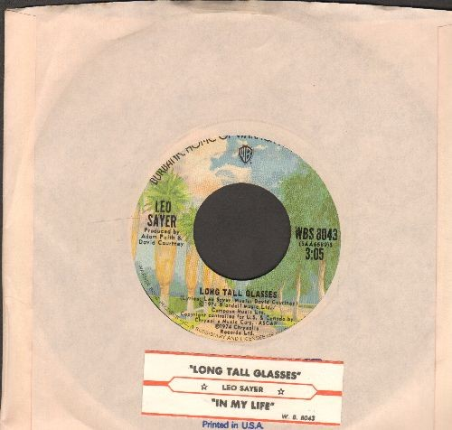 Sayer, Leo - Long Tall Glasses/In My Life (with Warner Brothers company sleeve and juke box label) - NM9/ - 45 rpm Records