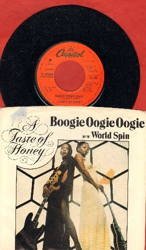 Taste Of Honey - Boogie Oogie Oogie/World Spin (DJ advance pressing with picture sleeve) - EX8/EX8 - 45 rpm Records