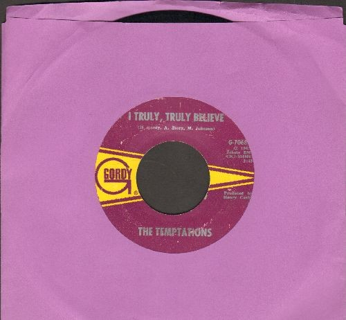 Temptations - I Truly Truly Believe/I Wish It Would Rain - VG7/ - 45 rpm Records