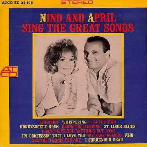 Tempo, Nino & April Stevens - Nino And April Sing The Great Songs: My Blue Heaven, Tea For Two, Stardust, St. Louis Blues, Begin The Beguine, I Can't Give You Anything But Love (Vinyl STEREO LP record) - EX8/NM9 - LP Records