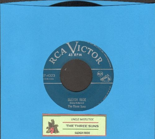 Three Suns - Sleigh Ride/Uncle Mistletoe (with juke box label) - VG7/ - 45 rpm Records