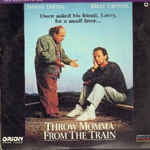 Throw Momma From The Train - Throw Momma From The Train - The 1987 Black Comedy starring Danny DeVito, Billy Crystal and Oscar NomineeAnne Ramsey - THIS IS A LASERDISC, NOT ANY OTHER KIND OF MEDIA! - NM9/EX8 - LaserDiscs