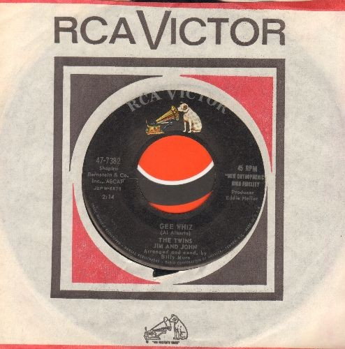 Twins (Jim & John) - Classroom Rock/Gee Whiz (with RCA company sleeve) - EX8/ - 45 rpm Records