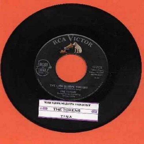 Tokens - The Lion Sleeps Tonight/Tina (with juke box label) - VG7/ - 45 rpm Records
