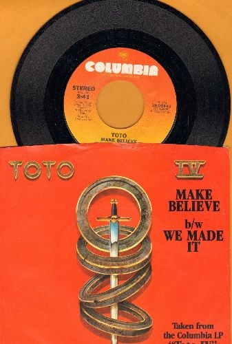 Toto - Make Believe/We Made It (with picture sleeve) - NM9/NM9 - 45 rpm Records