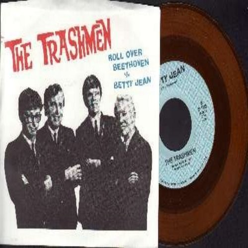 Trashmen - Roll Over Beethoven/Betty Jean (yellow vinyl re-issue with picture sleeve) - M10/NM9 - 45 rpm Records