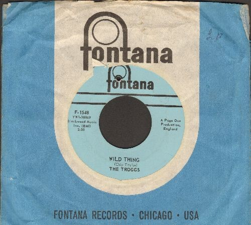 Troggs - Wild Thing (PARTY FAVORITE!)/From Home (with Fontana company sleeve) (bb) - EX8/ - 45 rpm Records