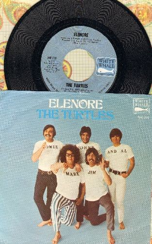 Turtles - Elenore (Gee, I Think You're Swell)/Surfer Dan (with picture sleeve) - NM9/EX8 - 45 rpm Records