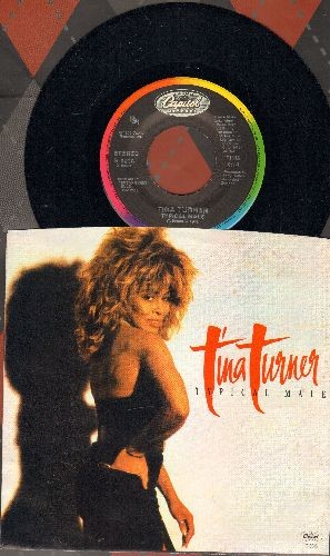 Turner, Tina - Typical Male/Don't Turn Around (with picture sleeve) - NM9/NM9 - 45 rpm Records