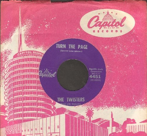 Twisters - Dancing Little Clown/Turn The Page (with vintage Capitol company sleeve) - EX8/ - 45 rpm Records