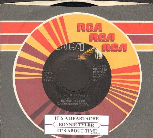 Tyler, Bonnie - It's A Heartache/It's About Time (with RCA company sleeve and juke box label) - VG7/ - 45 rpm Records