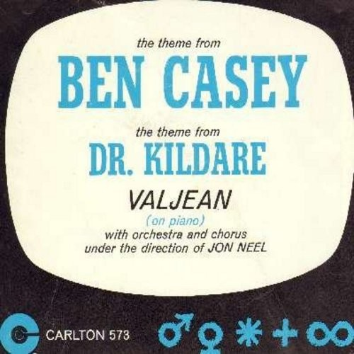 Valjean - Theme From Ben Casey/Theme From Dr. Kildare (with picture sleeve) (sol) - EX8/EX8 - 45 rpm Records