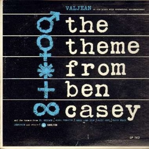 Valjean - The Theme From Ben Casey: Dr. Kildare, Wagon Train, Bonanza, Peter Gun, Gunsmoke, Perry Como Show, Naked City (Vinyl MONO LP record) - NM9/EX8 - LP Records