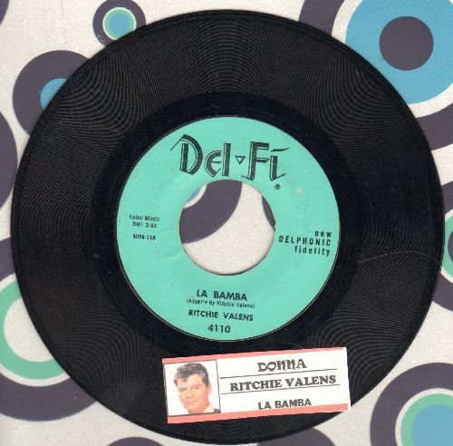 Valens, Ritchie - La Bamba/Donna (light blue pressing, NICE condition with juke box label) - EX8/ - 45 rpm Records