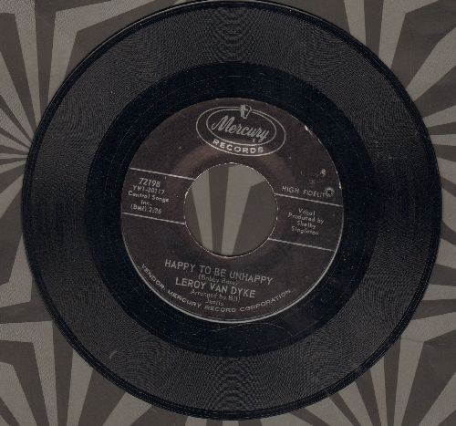 Van Dyke, Leroy - Happy To Be Unhappy/Now I Lay Me Down - NM9/ - 45 rpm Records