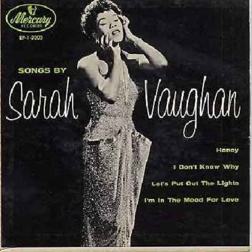 Vaughan, Sarah - Honey/Let's Put Out The Lights/I Don't Know Why/I'm In The Mood For Love (Vinyl EP record with picture cover) - EX8/VG7 - 45 rpm Records