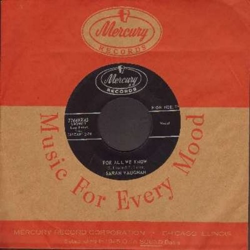 Vaughan, Sarah - For All We Know/Through The Years (with vintage Mercury company sleeve) - NM9/ - 45 rpm Records