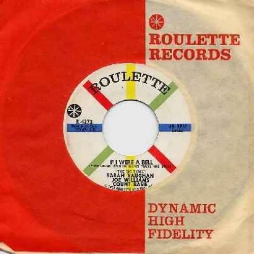 Vaughan, Sarah, Joe Williams, Count Basie - Teach Me Tonight/If I Were A Bell (with Roulette company sleeve) - NM9/ - 45 rpm Records