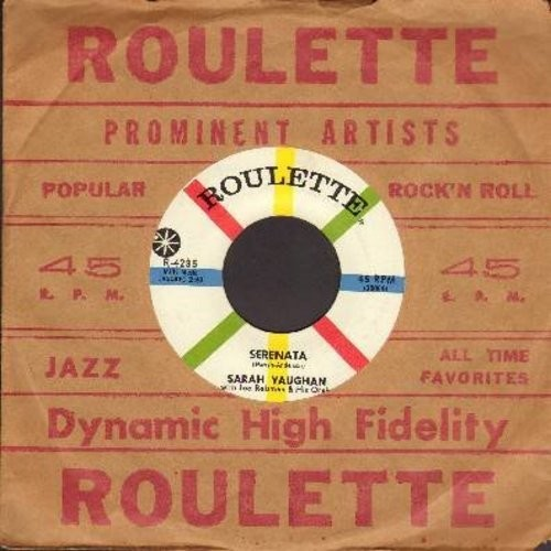 Vaughan, Sarah - Serenata/Let's (with vintage Roulette company sleeve) - NM9/ - 45 rpm Records