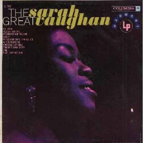 Vaughan, Sarah - The Great Sarah Vaughan: De Gas Pipe She's Leaking Joe, That Lucky Old Sun, As You Desire Me, I'll Know, Bianca (Vinyl MONO LP record) - NM9/EX8 - LP Records