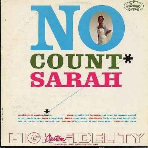 Vaughan, Sarah - No Count Sarah: Smoke Gets In Your Eyes, Cheek To Cheek, Stardust, Just One Of Those Things (Vinyl MONO LP record, DJ advance copy) - EX8/VG6 - LP Records