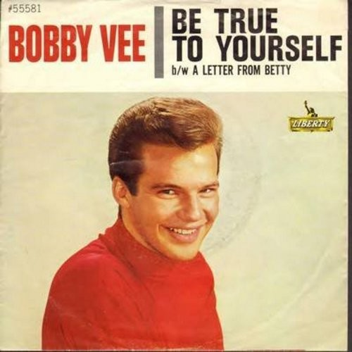 Vee, Bobby - Be True To Yourself/A Letter From Betty (with picture sleeve) - NM9/EX8 - 45 rpm Records