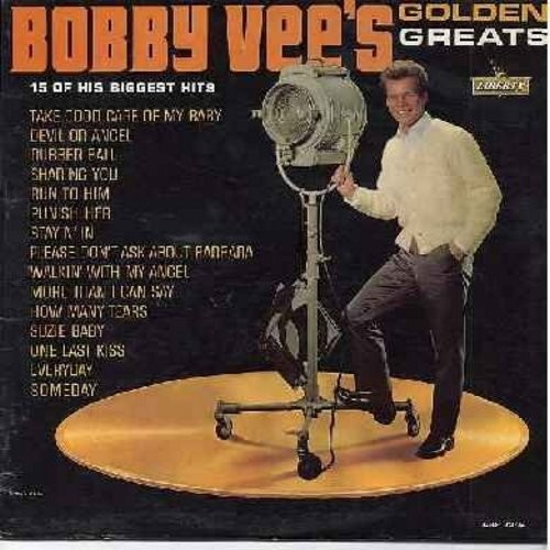 Vee, Bobby - Golden Greats: Take Good Care Of My Baby, Devil Or Angel, Rubber Ball, Run To Him, Punish Her, Please Don't Ask About Barbara, More Than I Can Say (Vinyl LP record) - EX8/EX8 - LP Records