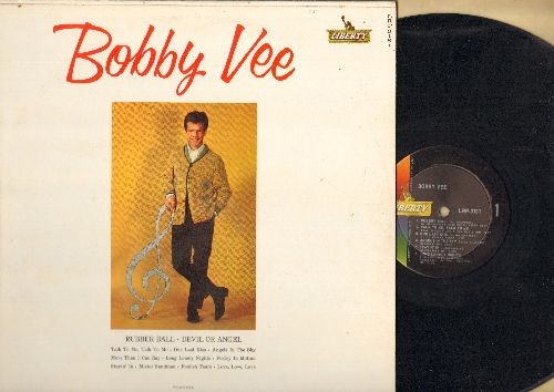 Vee, Bobby - Bobby Vee: Rubber Ball, Devil Or Angel, Talk To Me, One Last Kiss, More Than I Can Say, Poetry In Motion, Mister Sandman (Vinyl MONO LP record) - NM9/NM9 - LP Records
