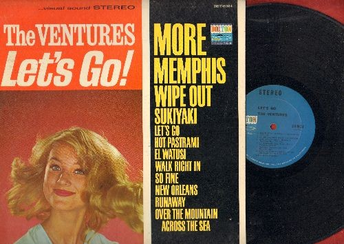 Ventures - Let's Go!: Wipe Out, Runaway, Sukiyaki, Wal Right In, More (Vinyl STEREO LP record) - NM9/EX8 - LP Records