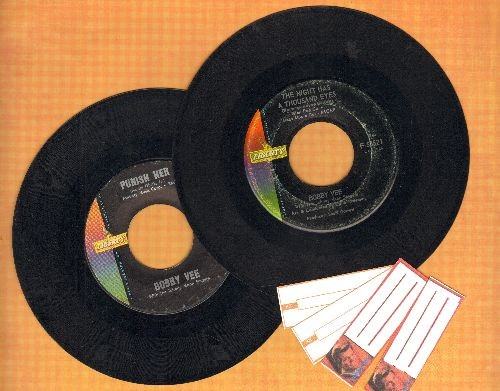 Vee, Bobby - 2 for 1 Special: The Night Has A Thousand Eyes/Punish Her (2 vintage first issue 45rpm records for the price of 1! - Shipped in plain paper sleeves with 4 blank juke box labels) - EX8/ - 45 rpm Records