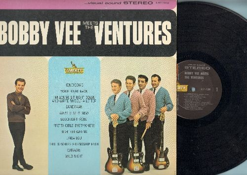 Vee, Bobby - Bobby Vee Meets The Ventures: Linda Lu, Candy Man, Honeycomb, Walk Right Back, Pretty Girls Everywhere, I'm Gonna Sit Right Down And Write Myself A Letter (Vinyl STEREO LP record) - NM9/EX8 - LP Records