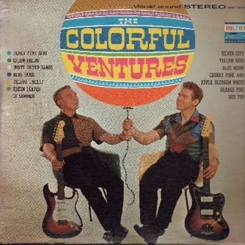 Ventures - The Colorful Ventures: Blue Moon, Blue Skies, Bluer Than Blue, Silver City, Red Top, Cherry Pink And Apple Blossom White (Vinyl LP record, RARE STEREO issue!) - EX8/VG7 - LP Records