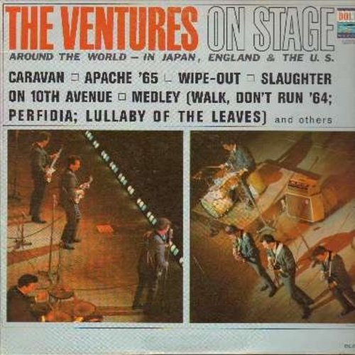 Ventures - On Stage: Apache '65, Wipe-Out, Slaughter On 10th Avenue, Bumble Bee, Yellow Jacket (Vinyl MONO LP record) - NM9/EX8 - LP Records