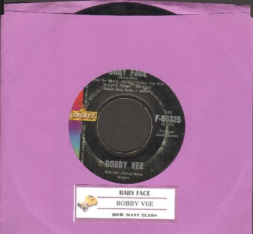 Vee, Bobby - Baby Face/How Many Tears (with juke box label) - VG7/ - 45 rpm Records
