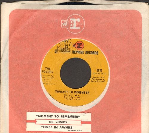 Vogues - Moments To Remember/Once In A While (with Reprise company sleeve with juke box label) - NM9/ - 45 rpm Records