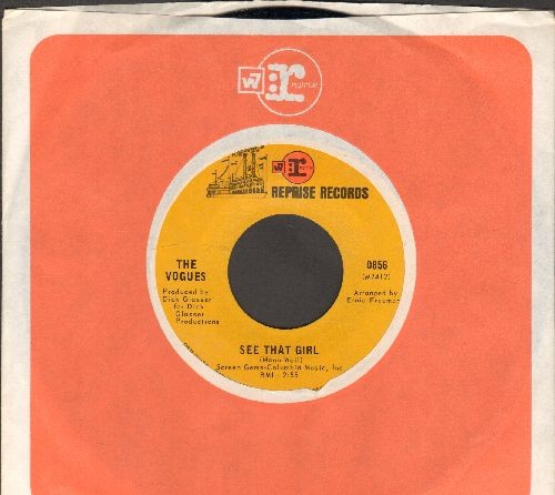 Vogues - See That Girl/If We Only Have Love (with Reprise company sleeve) - NM9/ - 45 rpm Records