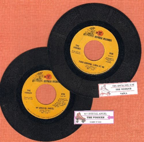 Vogues - 2 first issue 45rpm records with juke box labels for the price of one!: My Special Angel/Turn Around, Look At Me. GREAT for a juke box or as a gift for a fan! - EX8/ - 45 rpm Records