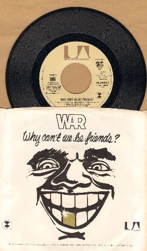 WAR - Why Can't We Be Friends?/In Mazatlan (with picture sleeve and juke box label) - NM9/NM9 - 45 rpm Records