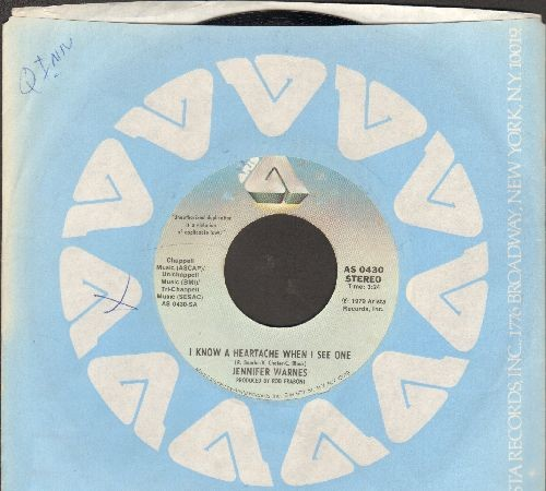 Warnes, Jennifer - I Know A Heartache When I See One/Frankie In The Rain (with Arista company sleeve) - NM9/ - 45 rpm Records