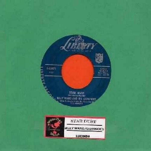 Ward, Billy & His Dominoes - Star Dust/Lucinda (with juke box label!) - EX8/ - 45 rpm Records